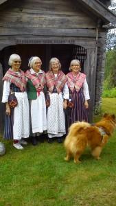 tre systrar och en kusin